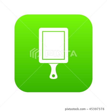 Black cutting board icon digital green 45397378