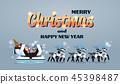 christmas, santa, sleigh 45398487