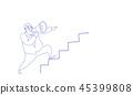 businessman loudspeaker announcer 45399808
