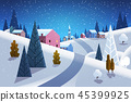 winter snowfall landscape 45399925