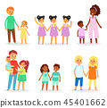 Siblings vector children characters sister brother together sisterly girls and brotherly boys twins 45401662