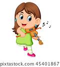 young woman playing violin 45401867