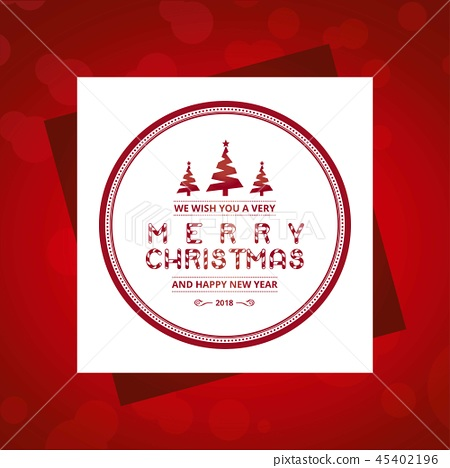 Christmas card with red pattern background 45402196