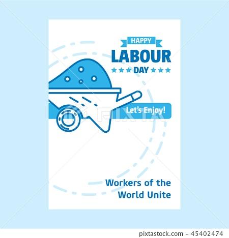 Happy Labour day design with white 45402474