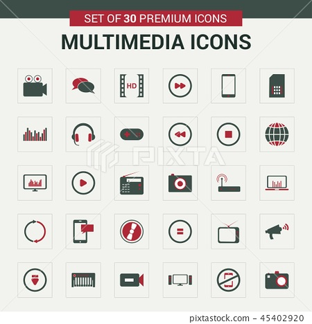 Multimedia icons Pack 45402920