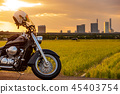 Minumada Rice Field American Bike and Minumada Rice Field Sunset 45403754