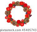 圣诞节材料12花圈 45405743