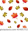 vector pattern with autumn floral background 45405772