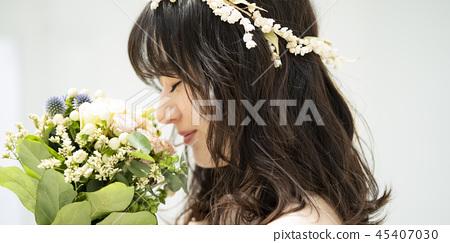 婦女婚姻新娘圖像 45407030
