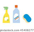 물건 소재 - 청소 세제와 스펀지 45408277