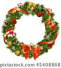 christmas wreath fir 45408868