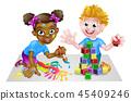 kids, playing, kid 45409246