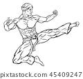 karate, kick, kung 45409247