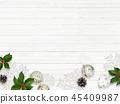 背景白色牆壁聖誕節裝飾品 45409987