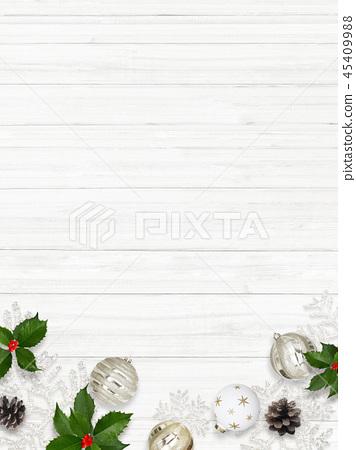 背景白色牆壁聖誕節裝飾品 45409988