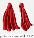 red, cloak, cape 45410155