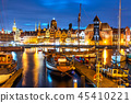 Night view of the Old Town of Gdansk, Poland 45410221