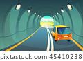 隧道 汽車 車 45410238