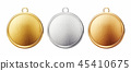 medal gold silver 45410675