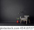 armchair, interior, room 45410727