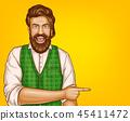 pop art brown haired bearded man 45411472