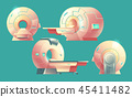 cartoon MRI scanner, magnetic resonance imaging 45411482