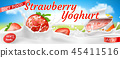 realistic colorful banner for yogurt ads 45411516