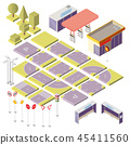 isometric city constructor with 3d elements 45411560