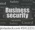 Security concept: Business Security on wall background 45412231
