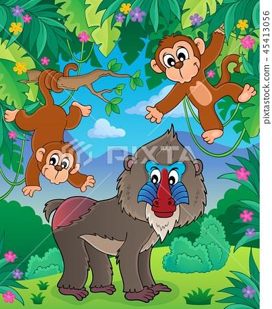Monkey theme image 2 45413056