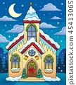 Christmas church building theme image 3 45413065