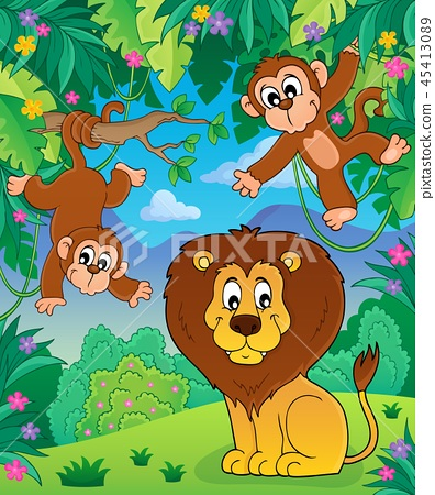 Animals in jungle topic image 7 45413089