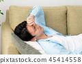 年轻人小睡图象 45414558