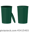 Green trash in the open and closed collection. 45415403