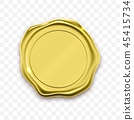 gold, seal, wax 45415734
