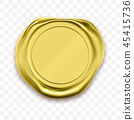 gold, seal, wax 45415736