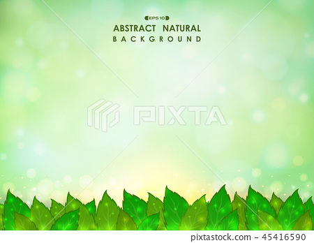 Abstract of green natural leaves background. 45416590