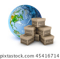 Planet earth and boxes 45416714