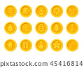 Santa Claus crypto currency coins Christmas winter new year holiday golden set 45416814
