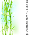 Bamboo green asian trees on white background 45416818
