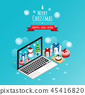 online merry christmas and happy new year,isometri 45416820