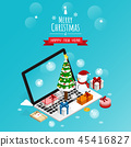 online merry christmas and happy new year,isometri 45416827