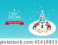 merry christmas and happy new year,isometric chris 45416833