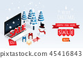merry christmas and happy new year gift box ,chris 45416843