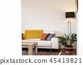 Simple, industrial interior design of living room 45419821