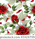 rose floral seamless 45420799