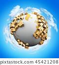 Worldwide shipping and recycling concept 45421208