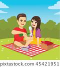 Couple Enjoying Picnic 45421951