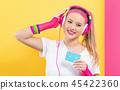 woman, cassette, tape 45422360