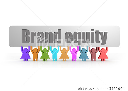 Brand equity word on a banner 45423064